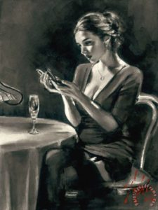 Eugenia Painting by Fabian Perez; Eugenia Art Print for sale